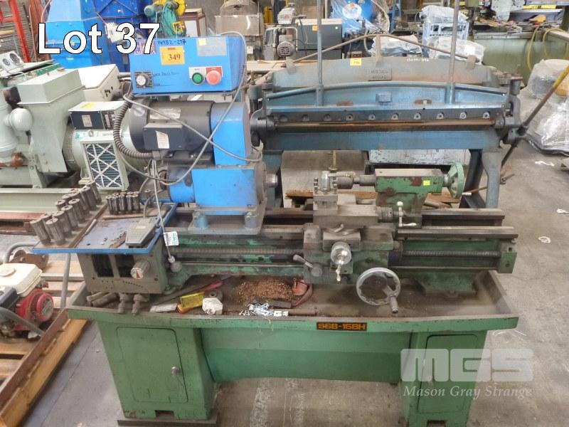 SPECIAL PURPOSE COLLET LATHE, WITH AIR COLLET CHUCK, CROZIER