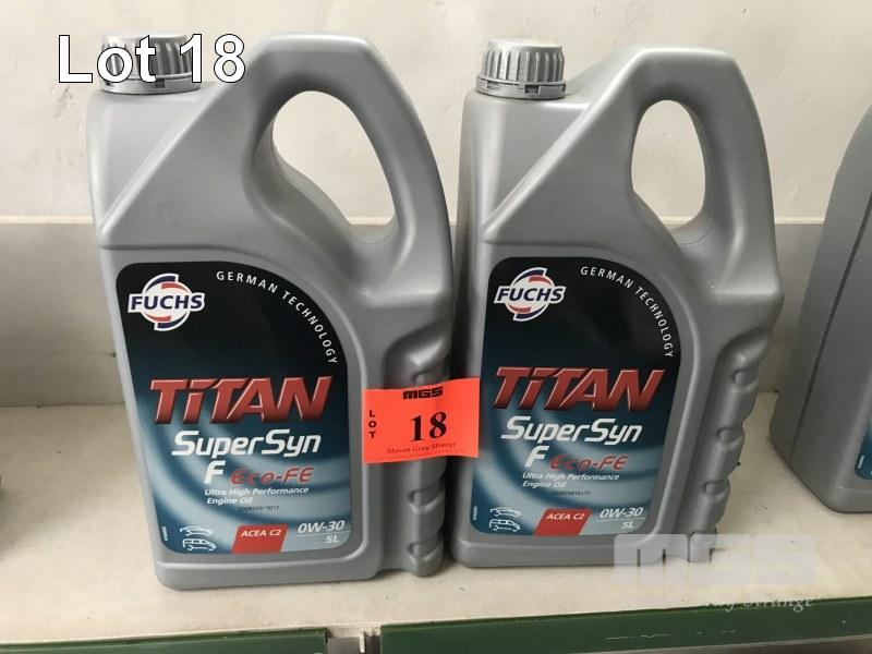 2 x 5 LITRE FUCHS, TITAN SUPER SYNF ENGINE OIL, OW-30 - Country