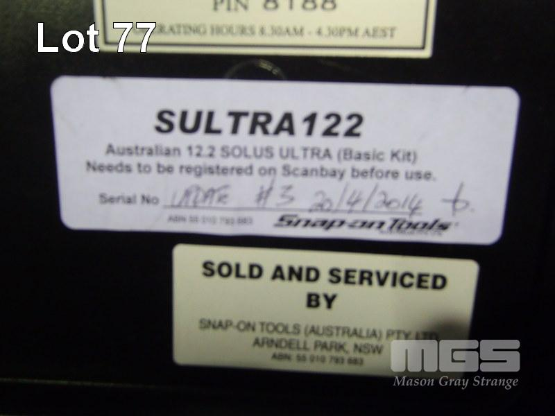 SNAP-ON SCAN TOOL, SOLUS-ULTRA - Auto Workshop Auction