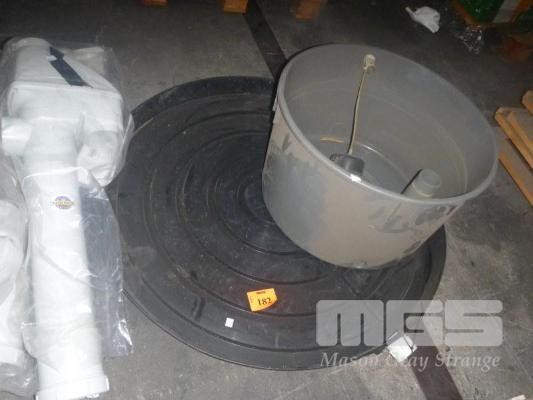Pvc hot water service over flow tray header tank for Plastic hot water tank