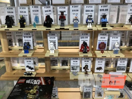 QTY ASST LEGO MINIFIGURES, STAR WARS, GENERAL ETC WITH STANDS (1 x