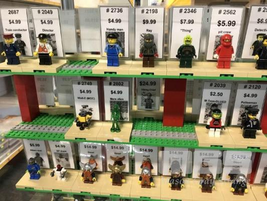 QTY ASST LEGO MINIFIGURES, GENERAL ETC WITH STANDS (1 x