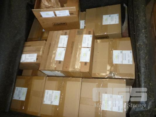 CRATE CONTAINING COMMISSIONING PARTS FOR EMERSON VIRGO VALVES